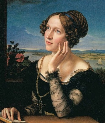 Wilhelmine, the Artist's Wife, 1828 (Carl Begas) (1794-1854) Location TBD