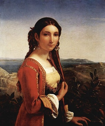 A Young Woman from Retuna, 1822 (Louis Léopold Robert) (1794-1835) Museum Oskar Reinhart am Stadtgarten, Winterhur, Zürich