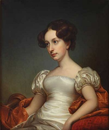 Catherine Peabody Gardner, 1827 (Rembrandt Peale) (1778-1860) Private Callection