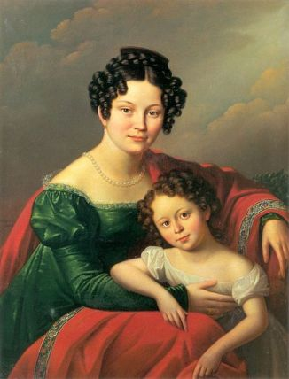 Countess of Dyhrn with Child, 1824 (Josef Olezkiewicz) (1777-1830) Lviv National Art Gallery, Ukraine