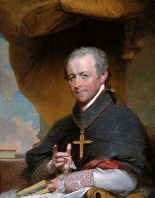 Bishop Jean-Louis Anne Magdelaine Lefebvre de Cheverus, 1823 (Gilbert Stuart) (1755-1828) M Museum of Fine Arts, Boston, MA 21.9
