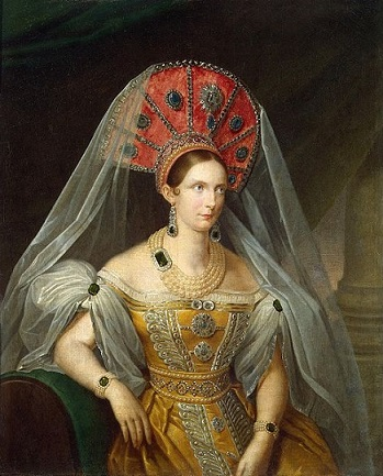 Empress Alexandra Feodorovna, Charlotte of Prussia, 1836 (A. Malyukov) (??-??)  State Hermitage Museum, St. Petersburg