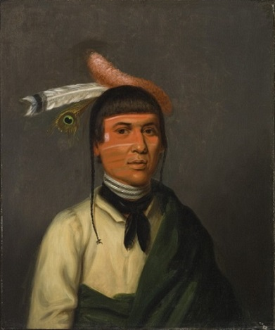"No-Tin,  ""Wind"",  Chippewa Chief, ca. 1832 (Henry Inman)  (1801-1846)  Los Angeles County Museum of Art,  M.2008.58"
