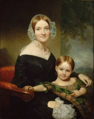 Anna Traphagen Buckham and Daughter, ca. 1839 (Henry Inman) (1801-1846) Museum of Fine Arts, Boston, MA  19.1370