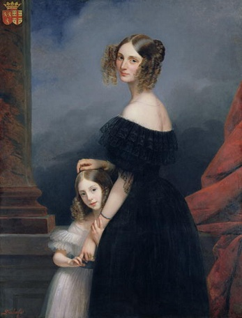Anne-Louise Alix de Montmorency with her daughter, ca. 1840 (Claude-Marie Dubufe) (1790-1864) Location TBD