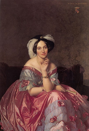 Betty Salomon, Baronne von Rothschild, 1848 (Jean-Auguste-Dominique Ingres) (1780-1867) Private Collection