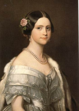Princess Maria Amélia of Portugal, daughter of Dom Pedro I of Brazil, ca. 1849 (Friedrich Dürck) (1809-1884) Location TBD