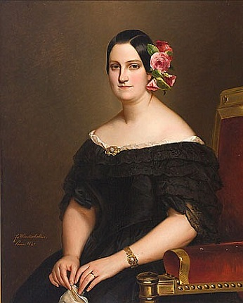 Marie Christine of the Two Sicilies, Queen of Spain, ca. 1841 (Franz Winterhalter) (1805-1873) Musée National du Château et des Trianons, Versailles