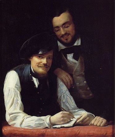 Self-Portrait with his brother (Franz Xaver Winterhalter) (1805-1873) Location TBD