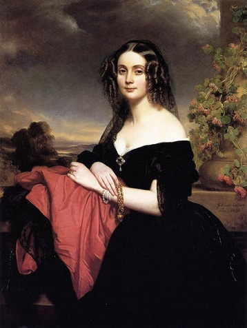 Claire de Bearn, Duchess of Vallombrosa, 1840 (Franz Xaver Winterhalter) (1805-1873) Private Collection