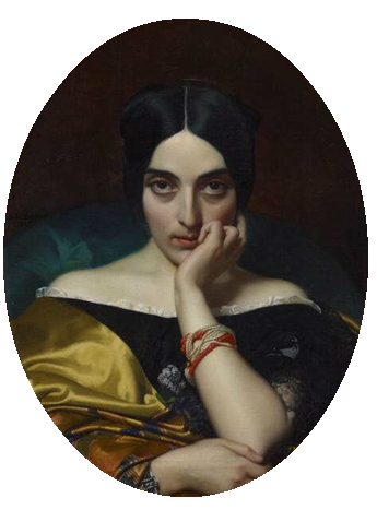 Clementine, Mrs. Alphonse Karr, 1845 (Henri Lehmann) (1814-1882) Minneapolis Institute of the Arts, MN