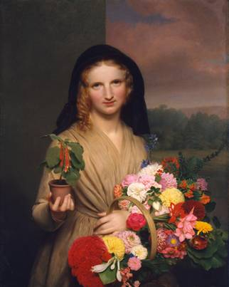 The Flower Girl (s.d. 1830) (Charles Cromwell Ingham) (1796-1863) The Metropolitan Museum of Art, New York, NY 02.7.1
