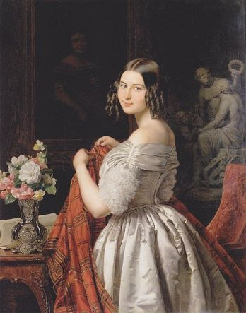A Young Lady, 1840 (Ferdinand Georg Waldmuller) (1793-1865) Wien Museum