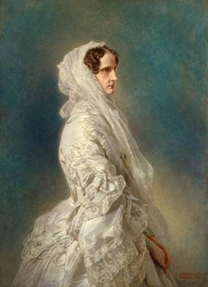 Empress Alexandra Feodorovna of Russia, Charlotte of Prussia,  1856  (Franz Xaver Winterhalter) (1805-1873)   The State Hermitage, St. Petersburg