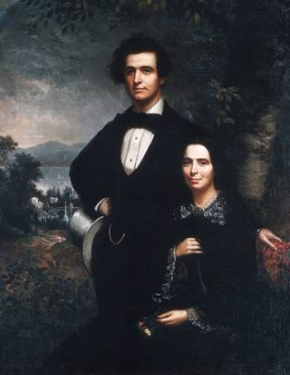 Mr. & Mrs. Daniel T. MacFarlan, 1858 (Theodore E. Pine) (1827-1905) The Metropolitan Museum of Art, New York, NY 50.155.1