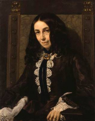 Elizabeth Barrett Browning, 1858 (Michele Gordigiani) (1830-1909) National Portrait Gallery, London NPG 1899