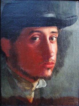 Self Portrait, 1858 (Edgar Degas) (1834-1917) J. Paul Getty Museum, Los Angeles, CA