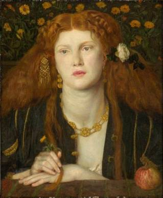 Fanny Cornforth, 1859 (Dante Gabriel Rossetti) (1828-1882) Museum of Fine Arts, Boston, MA 1980.261
