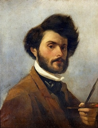 Self-Portrait, 1854 (Giovanni Fattori) (1825-1908) Location TBD
