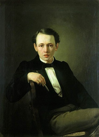 Self-Portrait, ca. 1853 (Vasily Perov) (1833-1882) Location TBD