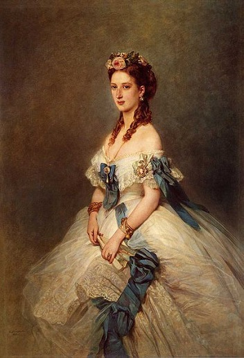 Alexandra of Denmark, Princess of Wales, 1864 (Franz Xaver Winterhalter) (1805-1873)   The Royal Collection, London,  RCIN 402351