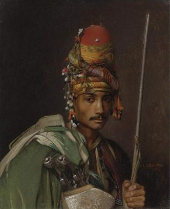 A Bashi Bazouk, ca. 1869  (Jean-Léon Gérôme) (1824-1904) Private Collection