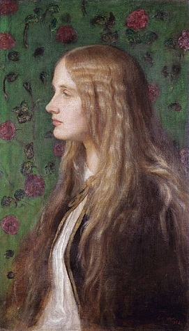 Edith Villiers, later the Countess of Lytton, 1862 (George Frederick Watts) (1817-1904)   Sothebys Sale