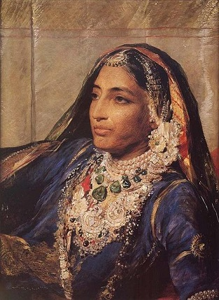 Maharani Jind Kaur, wife of Maharaja Ranjit Singh, 1863 (George Richmond) (1809-1896)  Location TBD