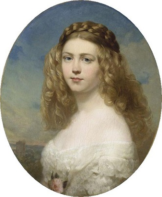 Princess Amelia of Bavaria, 1860  (Franz Xaver Winterhalter) (1805-1873)  Location TBD