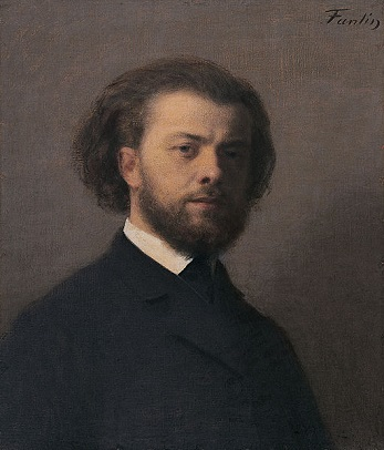 Self-Portrait, 1866 (Henri Fantin-Latour) (1836-1904)   Manchester Art Gallery, UK,  1919.8