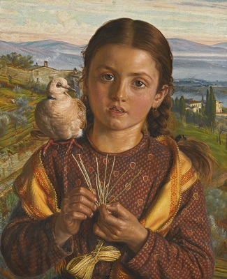 A Tuscan Girl, 1869 (William Holman Hunt) (1827-1910)  Sothebys Auction House, December 4, 2013, Lot 49