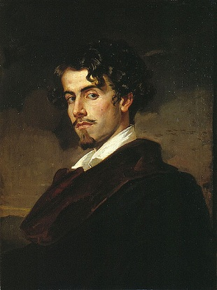Gustavo Adolfo Bécquer, the artists brother, 1862 (Valeriano Dominguez Bécquer) (1833-1870)    Museo de Bellas Artes de Sevilla