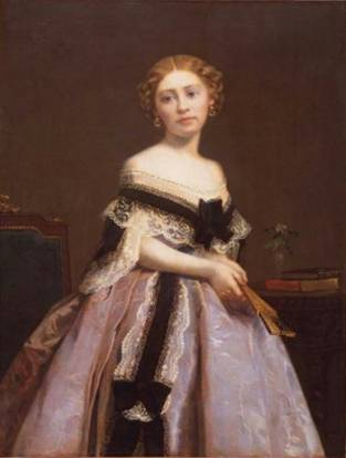 Mrs. Robert C. Winthrop (Frances Pickering Adams), 1861 (William Morris Hunt) (1824-1879)   Museum of Fine Arts, Boston, MA     24.339