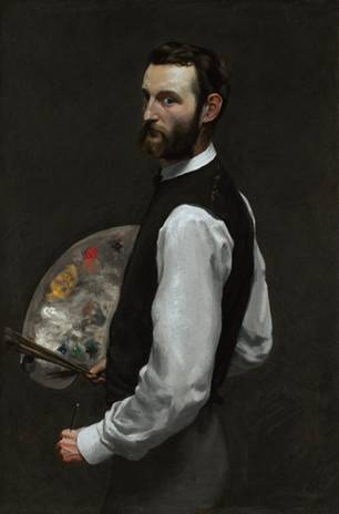 Self-Portrait, ca. 1865-1866  (Frédéric Bazille) (1841-1870)   The Art Institute of Chicago, IL      1962.336