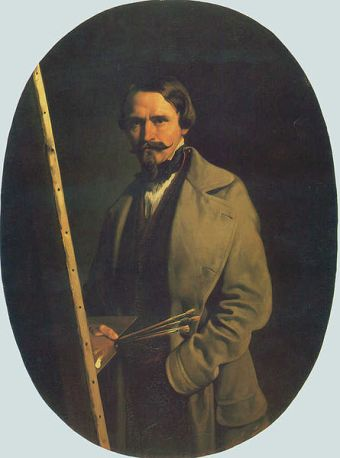 Self-Portrait, ca. 1865 (Aleksander Raczynski) (1822-1889) Lviv National  Art Gallery, Ukraine