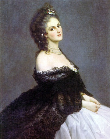 Virginia Oldoini, Countess of Castiglione, 1862 (Michele Gordigiani) (1830-1909)  Location TBD