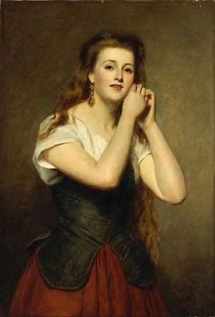 A Young Woman, 1875 (William Powell Frith) (1819-1909) Bonham's Auction House