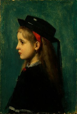 Alsatian Girl, 1873 (Jean-Jacques Henner) (1829-1905) National Gallery of Art, Washington D.C.