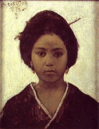 A Young Japanese Woman, 1879 (Maurycy Gottlieb) (1856-1879) Location TBD