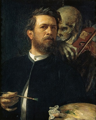 Self-Portrait, 1872 (Arnold Böcklin) (1827-1901) Alte Nationalgalerie, Berlin, A I 633