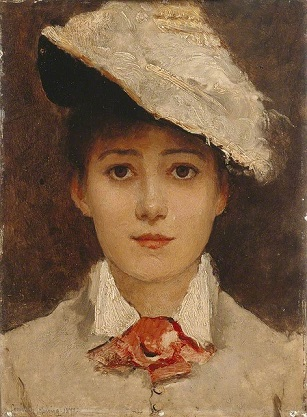 Self-Portrait, 1877 (Louise Janer Jopling) (1843-1933) Location TBD