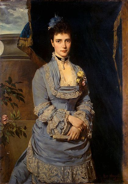 Grand Duchess Maria Fiodorovna, 1874 (Heinrich von Angeli) (1840-1825) The State Hermitage, St. Petersburg