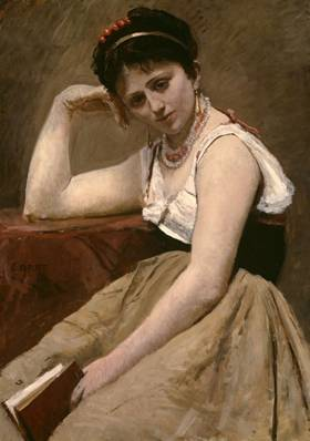 A Woman, ca. 1870 (Jean Baptiste Camille Corot) (1796-1875) The Art Insititute of Chicago, IL 1922.410