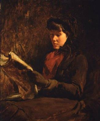 A Young Woman Reading, 1877 (Frank Duveneck) (1848-1919) Museum of Fine Arts, Boston, MA 23.119