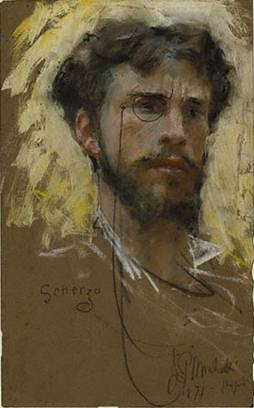 Self-Portrait, 1877 (Francesco Paolo Michetti) (1851-1929) J. Paul Getty Museum, Los Angeles, CA 94.GG.48