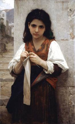Tricoteuse, ca. 1879 (William Bouguereau) (1825-1905) Location TBD