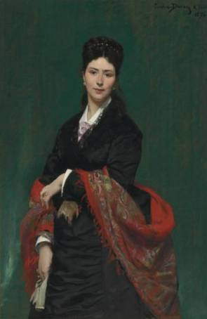 Madame Marie Clerc, 1874 (Charles Emile August Carolus-Duran) (1838-1917) Christie's Sale 2547 Lot 58