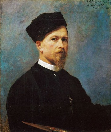 Self-Portrait, 1874 (Peter Nicolai Arbo) (1831-1892) Location TBD