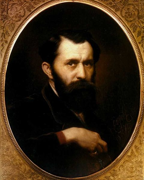 Self-Portrait, 1879 (Wassily Perov) (1833-1882) Location TBD