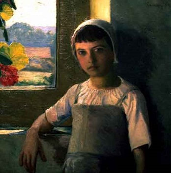 A Girl, 1889 (Lilla Cabot Perry) (1848-1933)   Location TBD